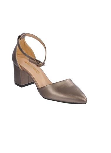 Maje 1903 Ten Kadın Topuklu Ayakkabı Bakır